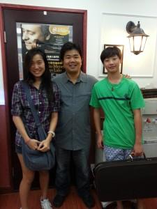 Karen Tsang (left), The University of Oxford Will Shao (right), Eton College, awarded Music Scholarship