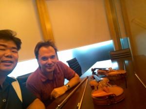 朱偉舜先生與 Auckland Philharmonia 的首席 Dimitri Atanassov